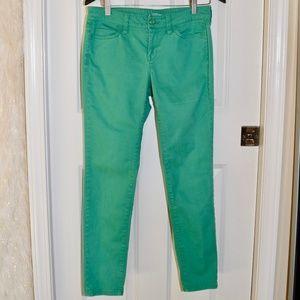 Green Ann Taylor LOFT Modern Skinny Jeans